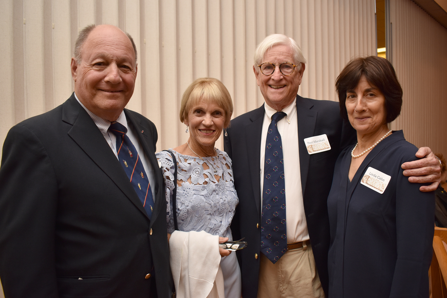 Stuart & Maxine Tauber, Paul Marshall, Linda Cahn ©Longboat Key Observer