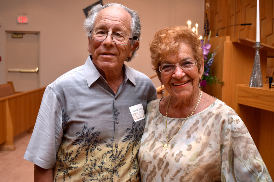 Manny Ares & Faye Dannick  ©Longboat Key Observer